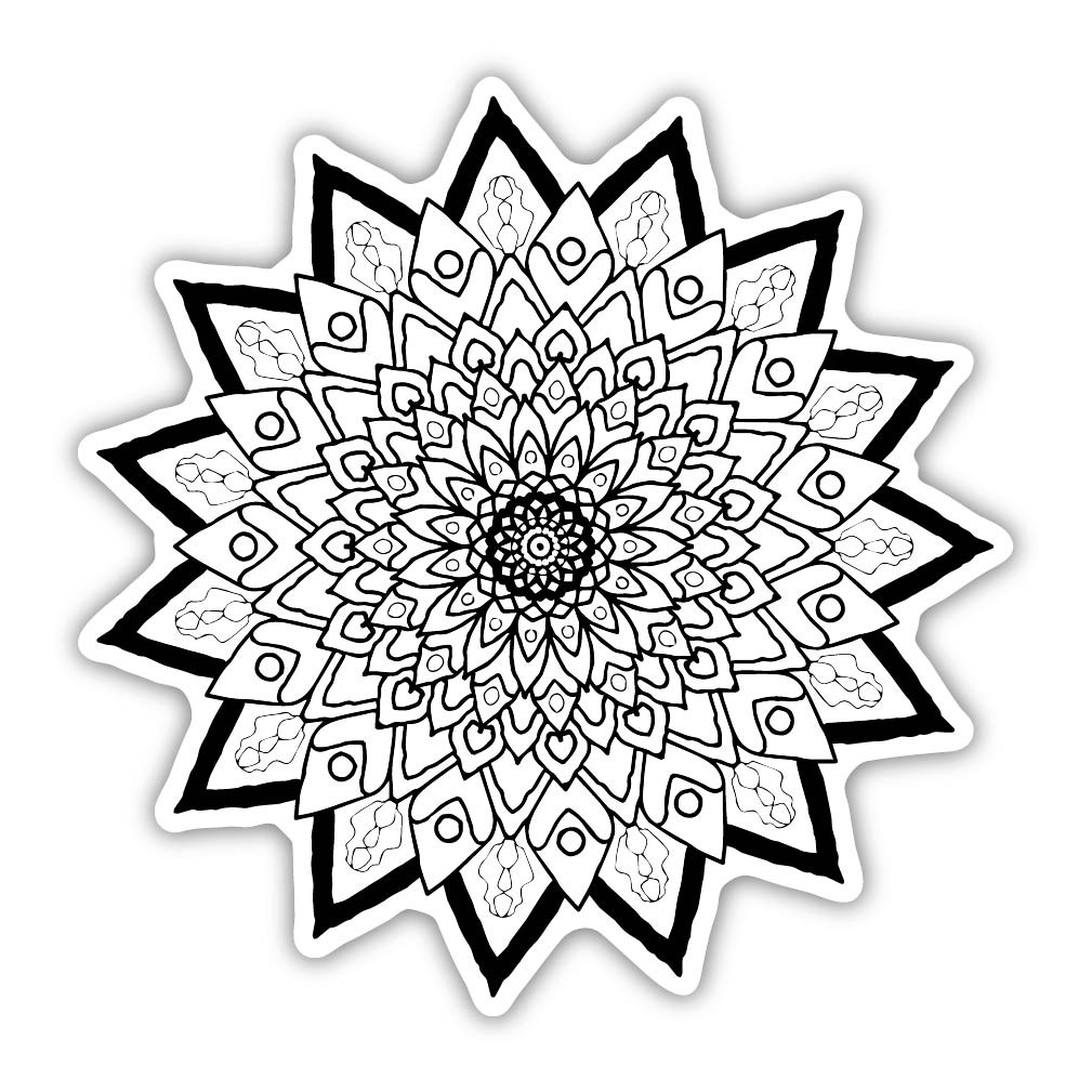 Eden Art Therapy Coloring Graphic: Radiance - Walls 360