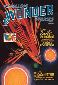 Thrilling Wonder Stories Rocket Ship Troubles