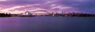 Extra Large Photo Board: Sydney Skyline with Purple Sky - AMER