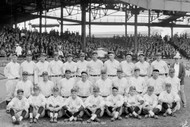 Washington Senators Baseball Team at Griffith Stadium 1925