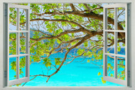 Tree Branches and Turquoise Sea