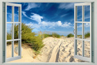 Sand Dunes with Blue Sky and Clouds