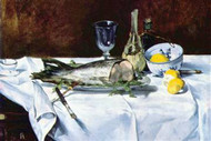 Still Life with Salmon by Manet