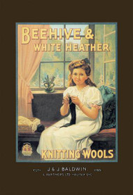 Beehive and White Heather Knitting Tools