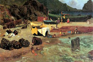 Fishing Boats on Capri by Albert Bierstadt