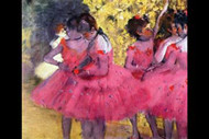 Dancers in Pink Between The Scenes by Edgar Degas