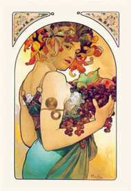 Fruit (1897) by Alphonse Mucha