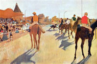 Jockeys in Front of the Grandstand by Degas