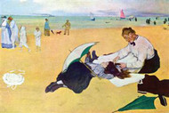 Small Girls On The Beach by Edgar Degas