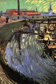 Canal with Women Washing by Vincent Van Gogh