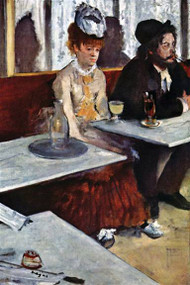 L'Absinthe (Dans un cafe) by Edgar Degas