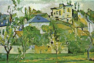 Fruit Garden in Pontoise by Cezanne