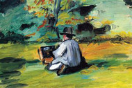 Painter at Work by Cezanne