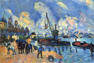 Seine at Bercy by Cezanne