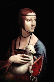 Portrait of a Lady with an Ermine by Da Vinci