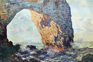 The Rocky Cliffs of Atretat by Claude Monet