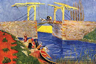 Langlois Bridge at Arles with Women Washing by Van Gogh