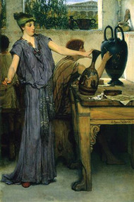 Pottery Painting by Alma-Tadema