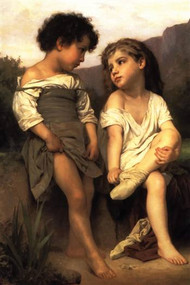 At the Edge of the Brook by Bouguereau