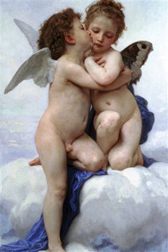 First Kiss by Bouguereau