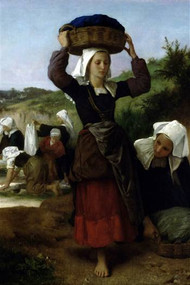 Washerwomen of Fouesnant by Bouguereau