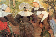 Dance of 4 Women of Breton by Paul Gauguin