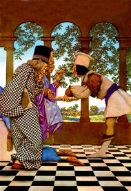 Chancellor and the King Sampling Tarts by Maxfield Parrish