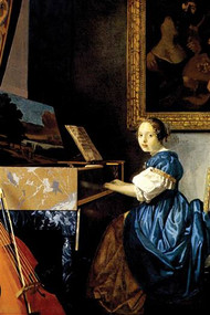 Dame on Spinet by Vermeer