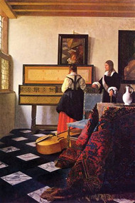 The Music Lesson by Vermeer