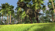 Tyrannosaurus Rex Hunting In A Tropical Landscape II