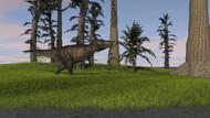 Tyrannosaurus Rex In A Grassy Field V