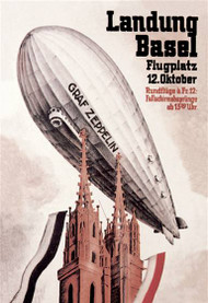 Graf Zeppelin Flies over the Cathedral