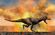 Tyrannosaurus Rex Escaping From A Violent Fire Storm II