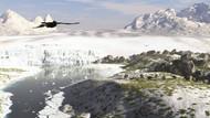 A Receding Glacial Scene Circa 18,000 Years Ago