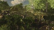 Yangchuanosaurus Spies On A Group Of Mamenchisaurus
