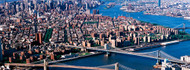 Brooklyn Bridge Aerial View NY