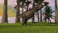 Tyrannosaurus Rex Hunting In Grasslands