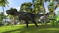 Tyrannosaurus Rex Hunting In A Tropical Landscape I
