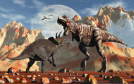 Tyrannosaurus Rex And Triceratops Meet For A Battle To The Death I
