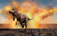 Tyrannosaurus Rex Escaping From A Violent Fire Storm I