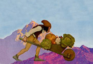 Knave with a Wheelbarrow by Maxfield Parrish
