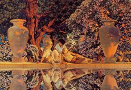 Garden of Allah by Maxfield Parrish