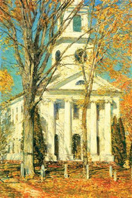 Church at Old Lyme, Connecticut by Hassam