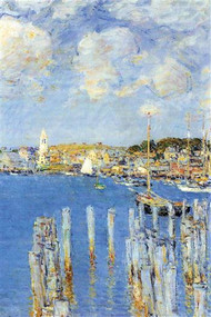 Port of Gloucester Island by Hassam
