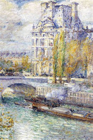 The Louvre on Port Royal by Hassam