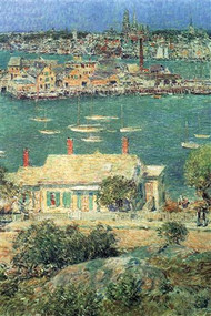 Port of Gloucester by Hassam