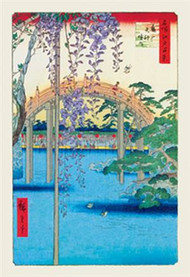 Grounds of the Kameido Tenjin Shrine by Hiroshige