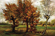 Autumn Landscape with Four Trees by Van Gogh