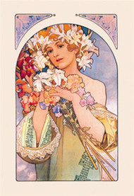 Flower by Alphonse Mucha