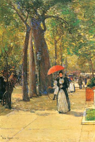 Fifth Avenue and Washington Square by Hassam